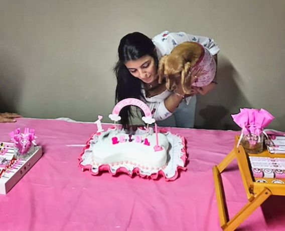 Cumple perruno de Reyna con Minnie Mouse