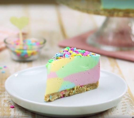 Riquísimo cheesecake unicornio