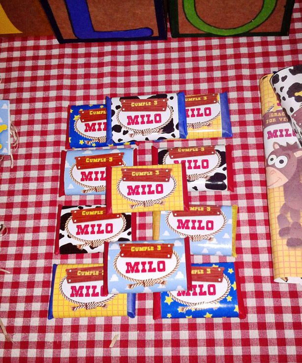 Etiquetas de golosinas Toy Story - Imprimibles de Todo Bonito