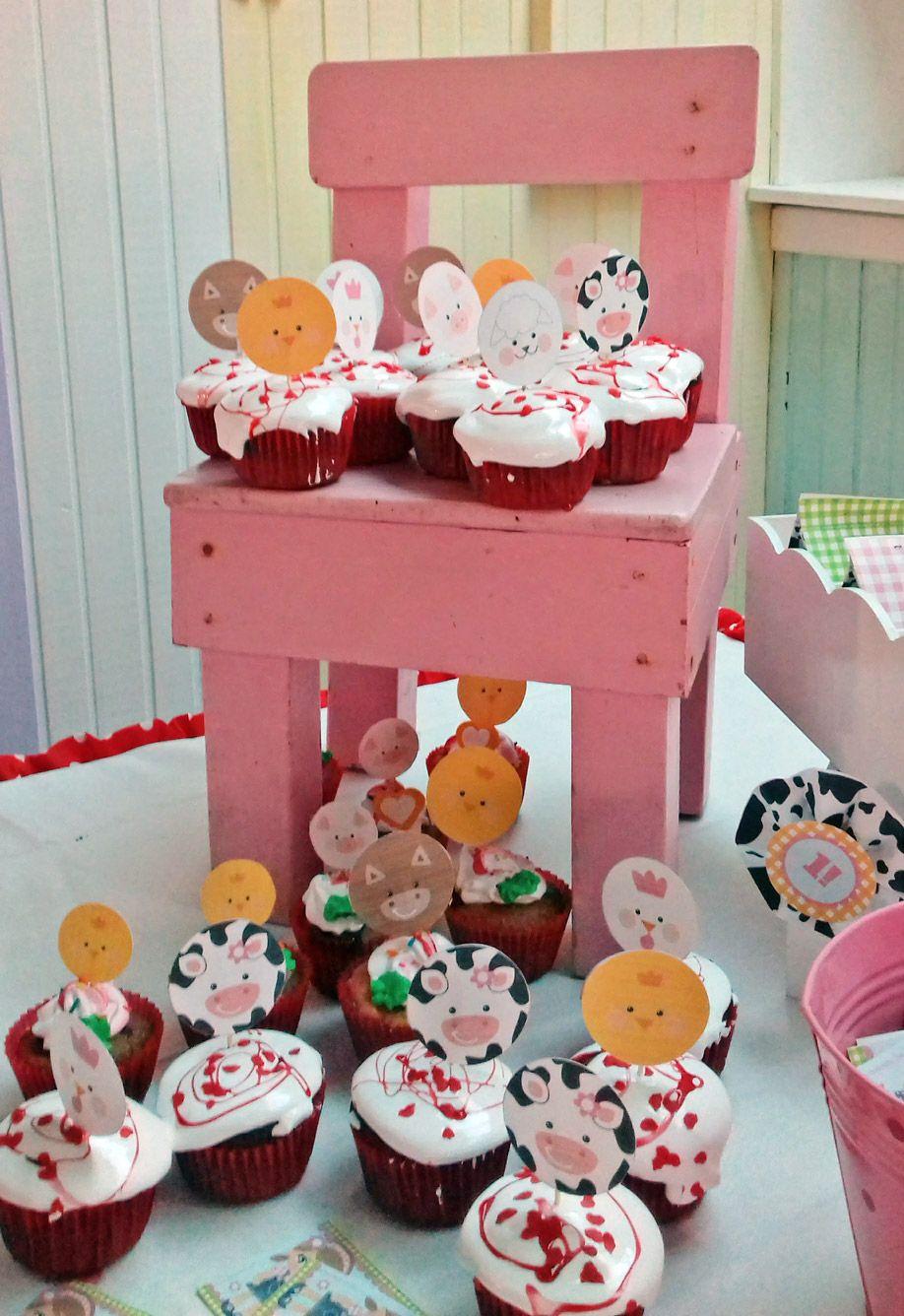 Cupcakes animales de la granja