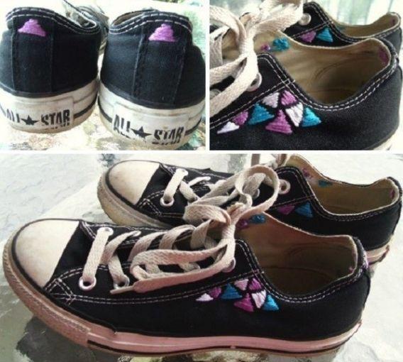 Zapatillas con bordados