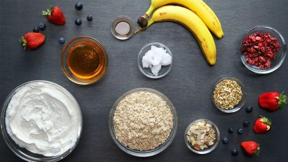 Banana split para desayunar