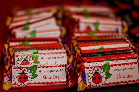 Etiquetas Vaquitas de San Antonio para imprimir