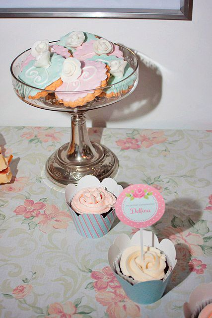 Cupcakes primer añito shabby chic