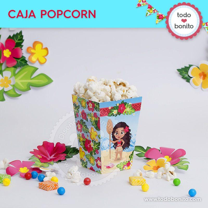 Caja popcorn para imprimir de Moana