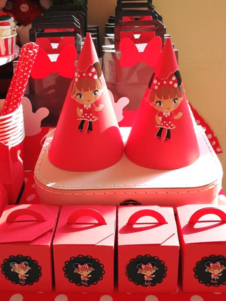Kit imprimible Orejas Minnie rojo