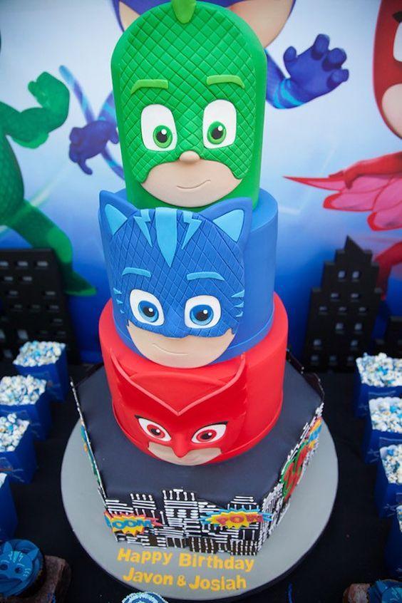 Pj >> Las 15 mejores tortas de PJ Masks para tu fiesta - Todo Bonito