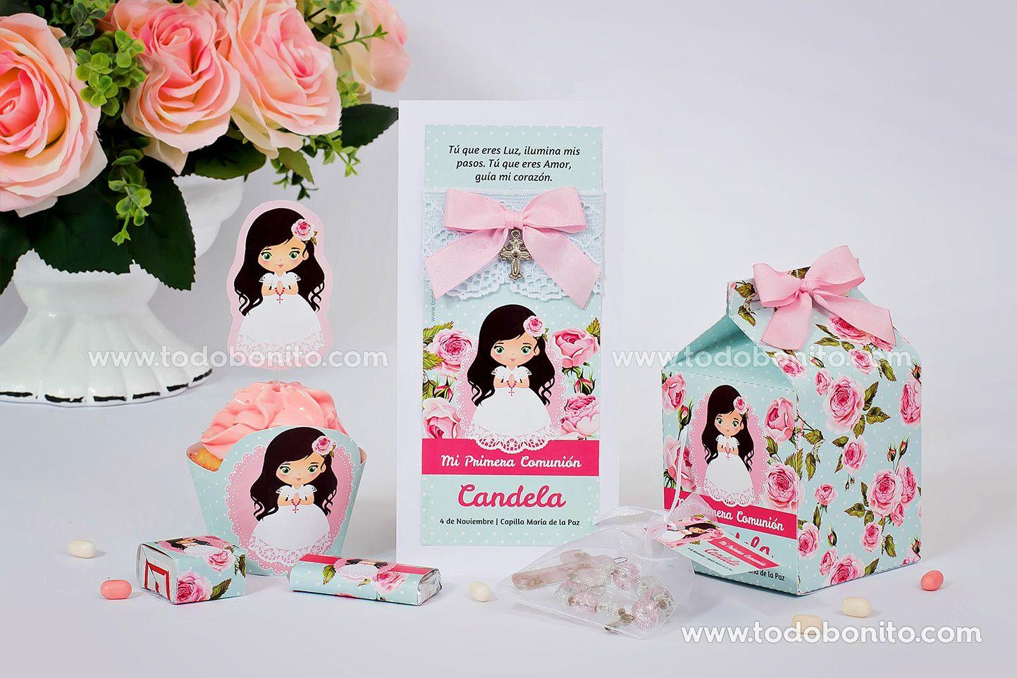 Kit imprimible de Primera Comunión para niñas
