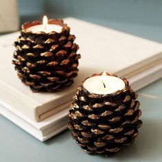 Decoración de velas estilo rústico