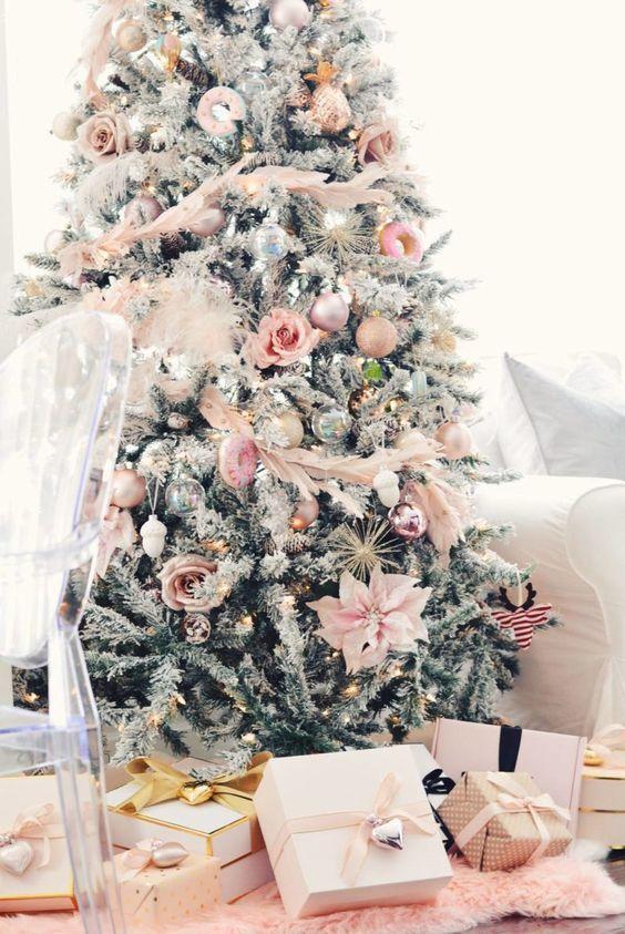 Decoración de Navidad en rosa
