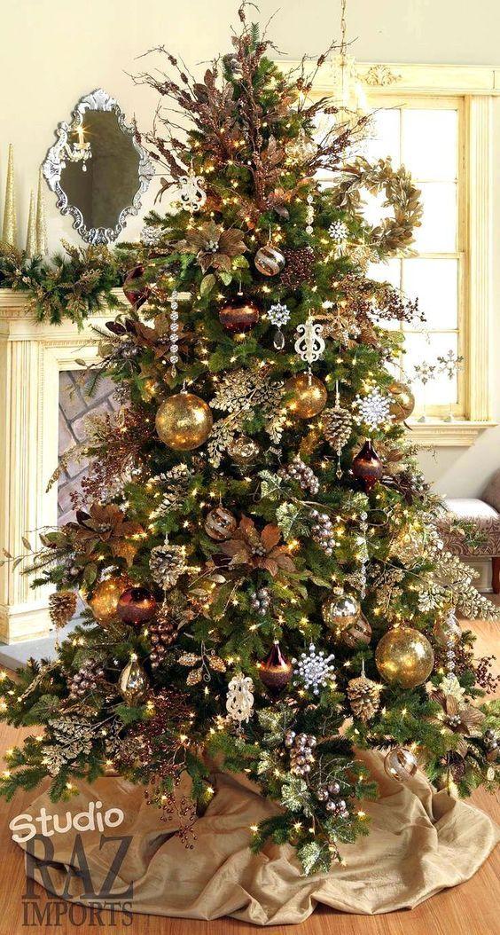 Decoración para una navidad rústica
