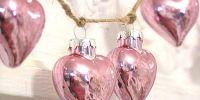 Hermosa decoración de Navidad en rosa