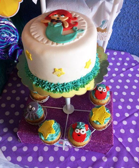 Ideas de torta de la Sirenita
