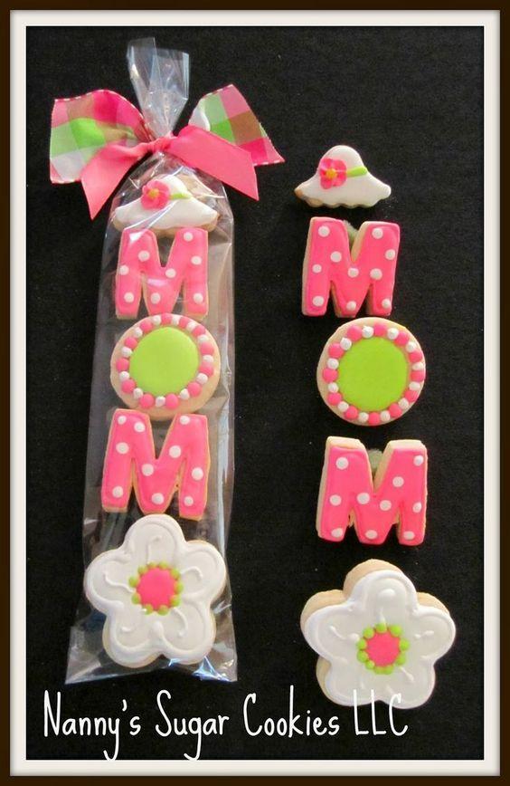 Hermosos diseños de galletas para mamá