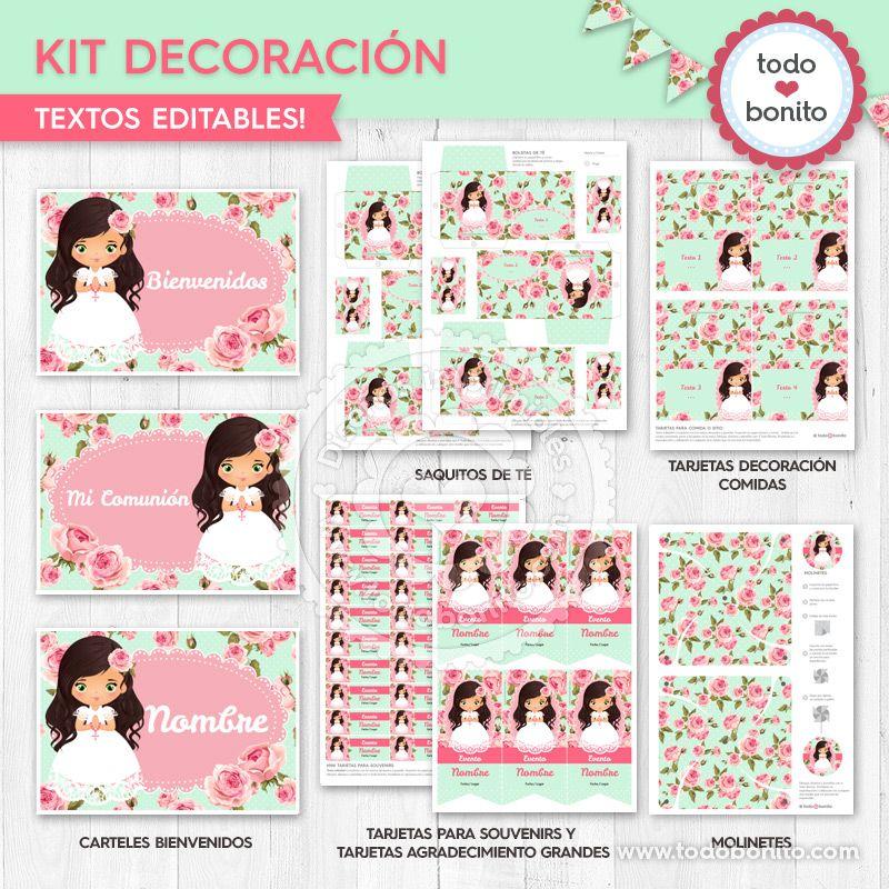 Kit decoración de Primera Comunión de niñas