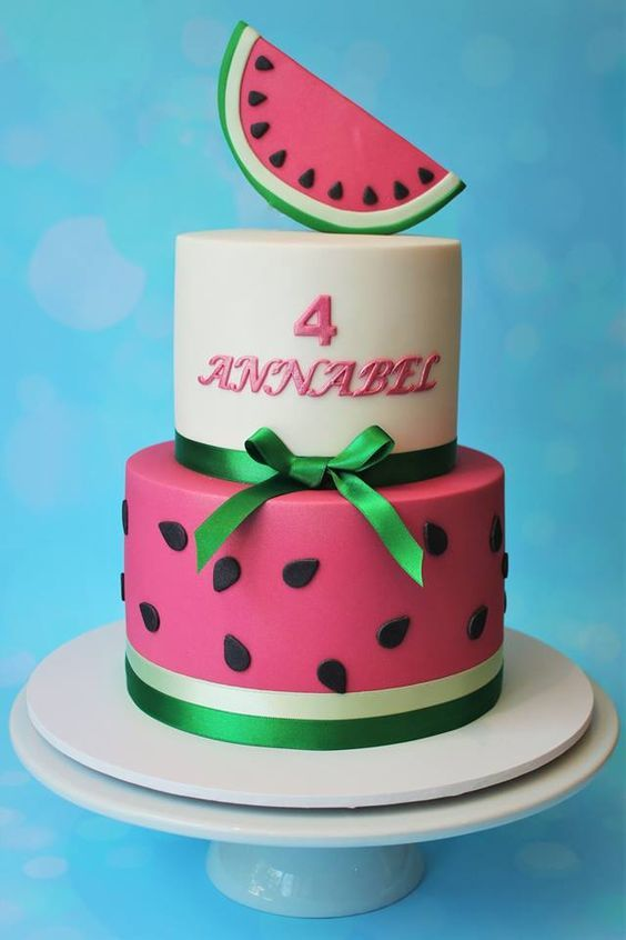 Modelos de tortas de Sandías ¡Las más lindas!