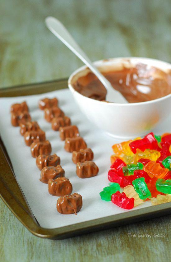 Gomitas con caramelo