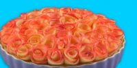 Tarta de rosas de manzana