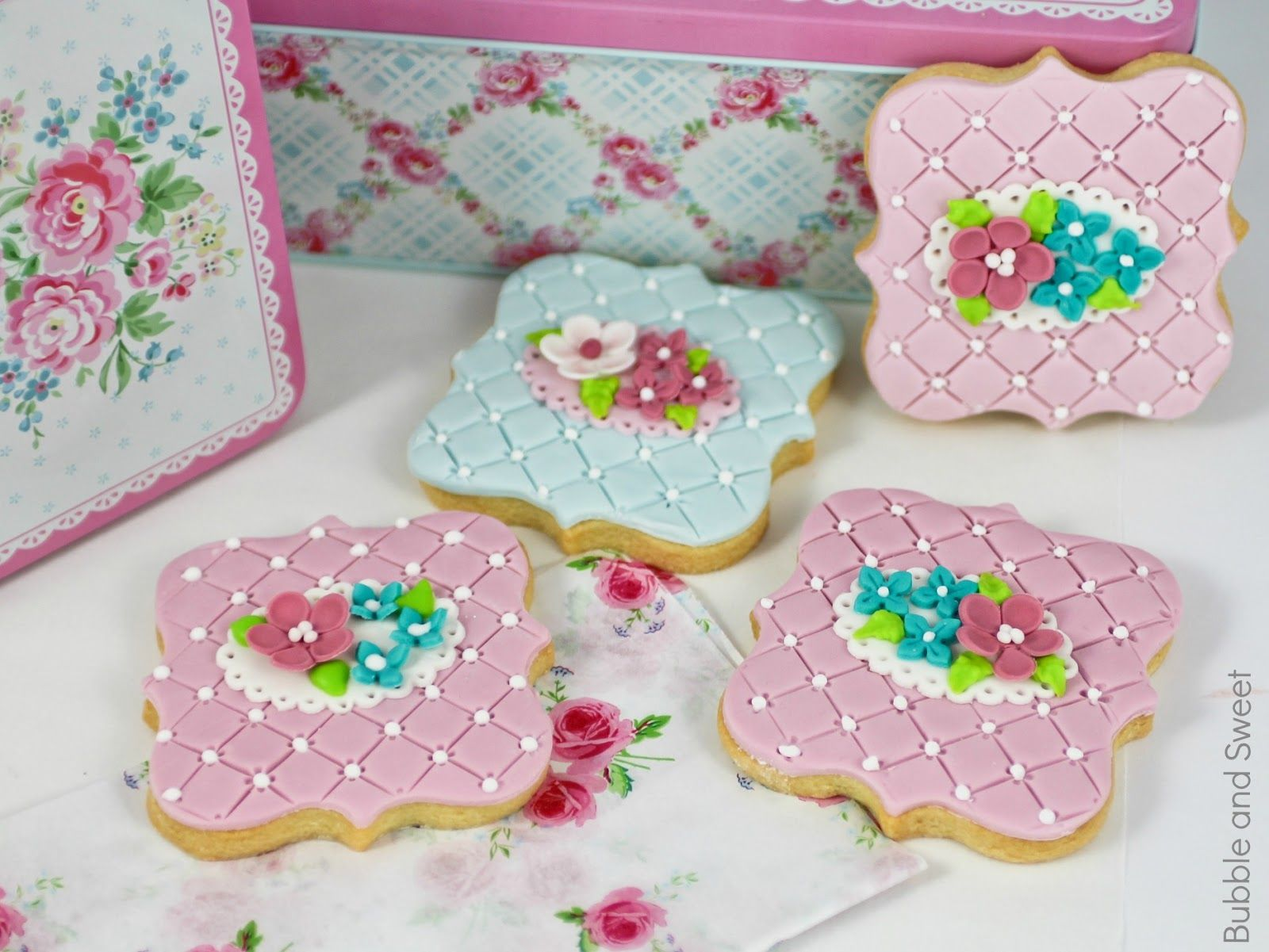 shabby chic cookies mothers day recipe wedding party pink pretty greengate tin summer blue fondant Best Birthday Cakes In San Antonio