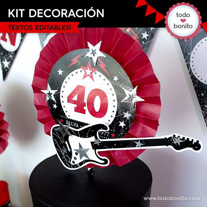 Kit decoración de Rock'n Roll