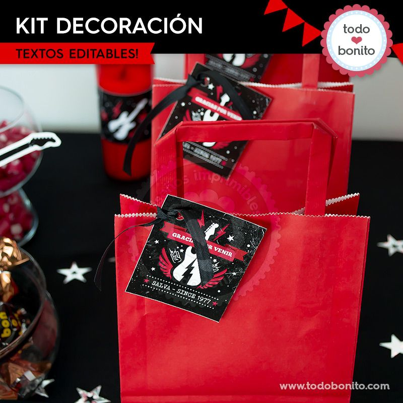 Kit decoración de Rock'n Roll