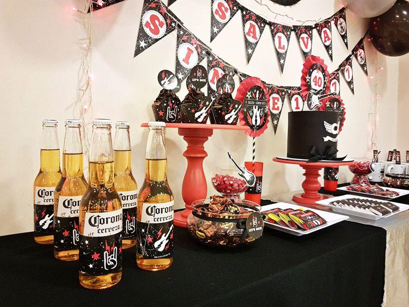 Mesa dulce fiesta de Rock