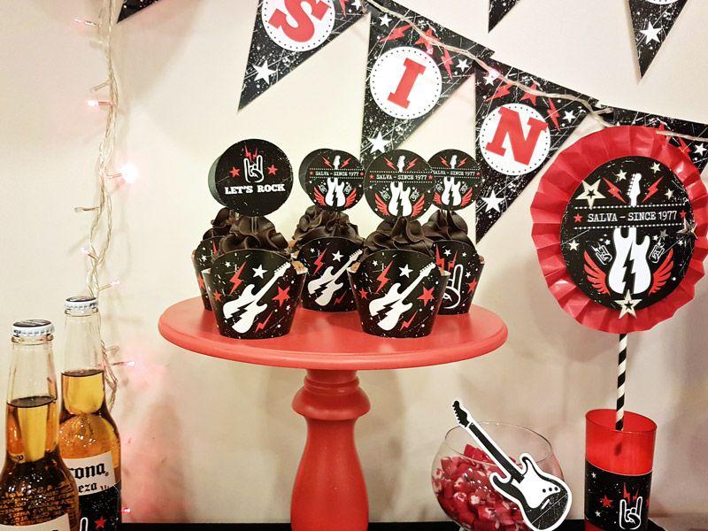 Cupcakes fiesta de Rock