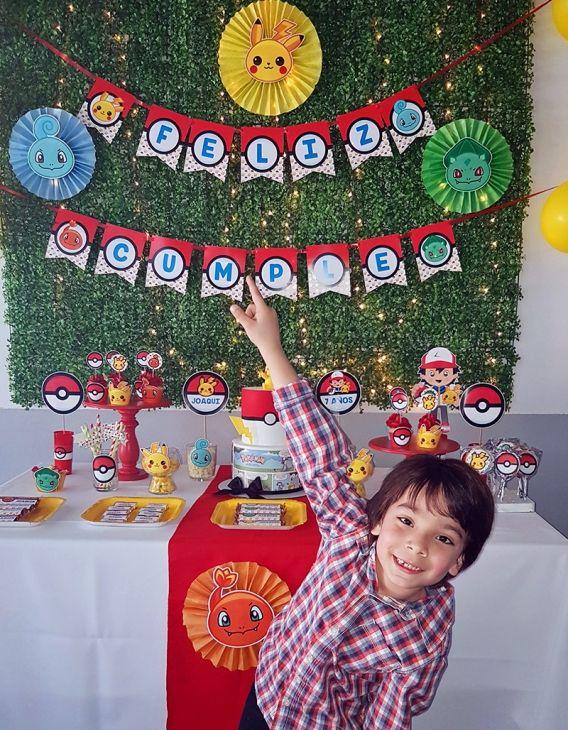 Pokémon en el cumpleaños de Joaquín