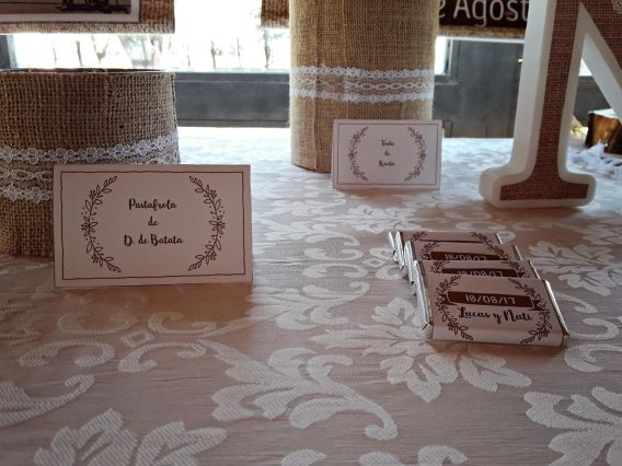 Mesa dulce para boda estilo rustico