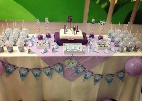Temática Frozen para el cumpleaños de Tiziana