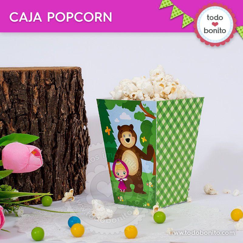 Caja popcorn de Masha y el Oso