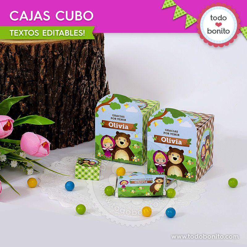 Cajas cubo de Masha y el Oso