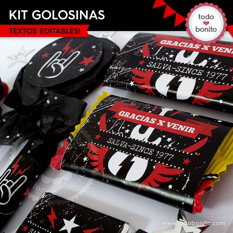 Kit golosinas de Rock'n Roll