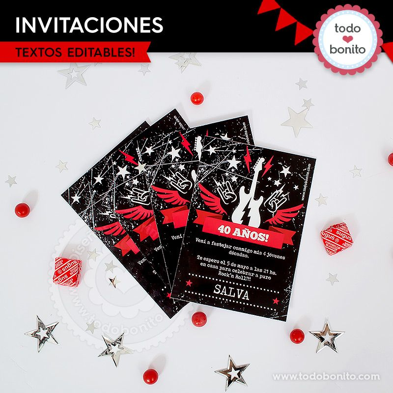 Invitaciones de Rock'n Roll