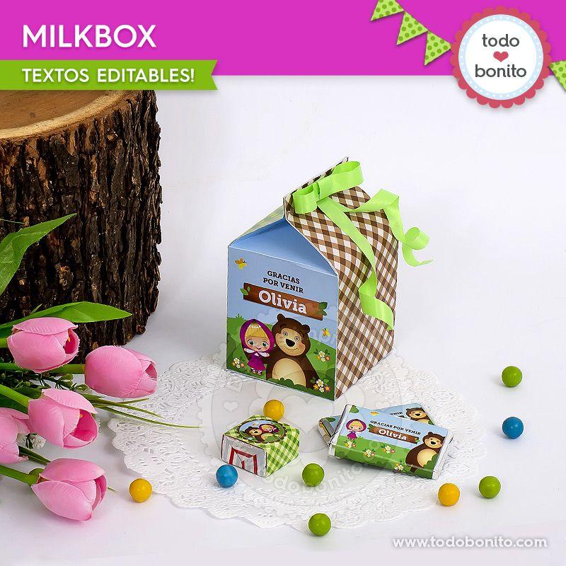 Cajas Milkbox de Masha y el oso