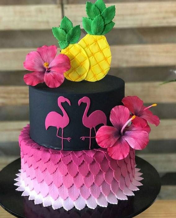 Tortas de flamencos y piñas para inspirarte