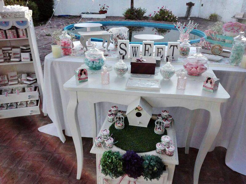 Mesa dulce de Primera Comunión de niñas para imprimir
