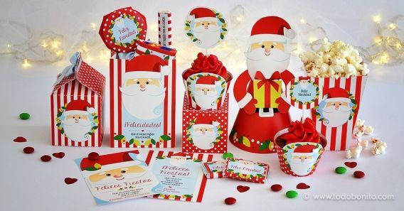 Kit imprimible de Navidad Carita de Santa
