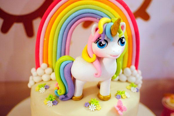 Adorno de torta de Unicornios