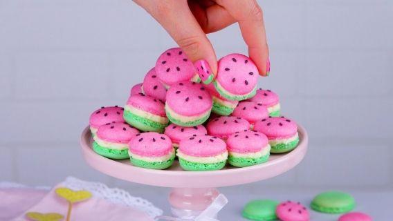 Macarons de sandía