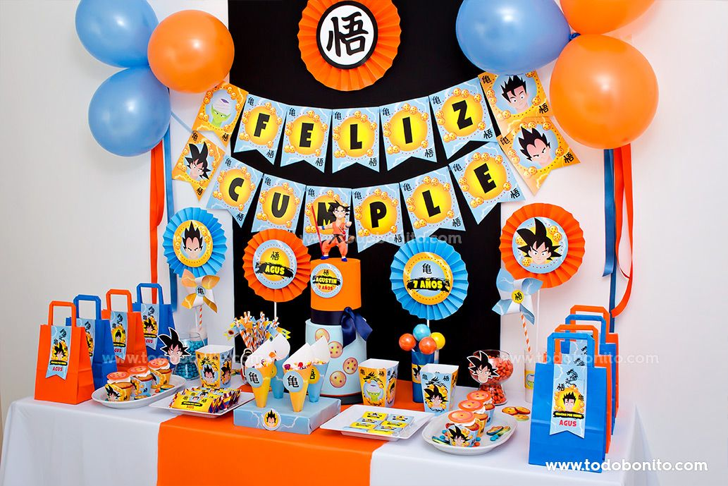 Decoración con el Kit Imprimible de Dragon Ball