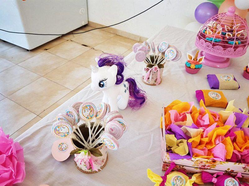 Decoración con el Kit imprimible de Unicornio