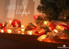 Guirnalda navideña estilo rústico