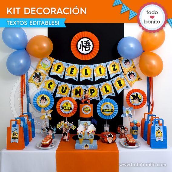 Kit Decoración Dragon Ball