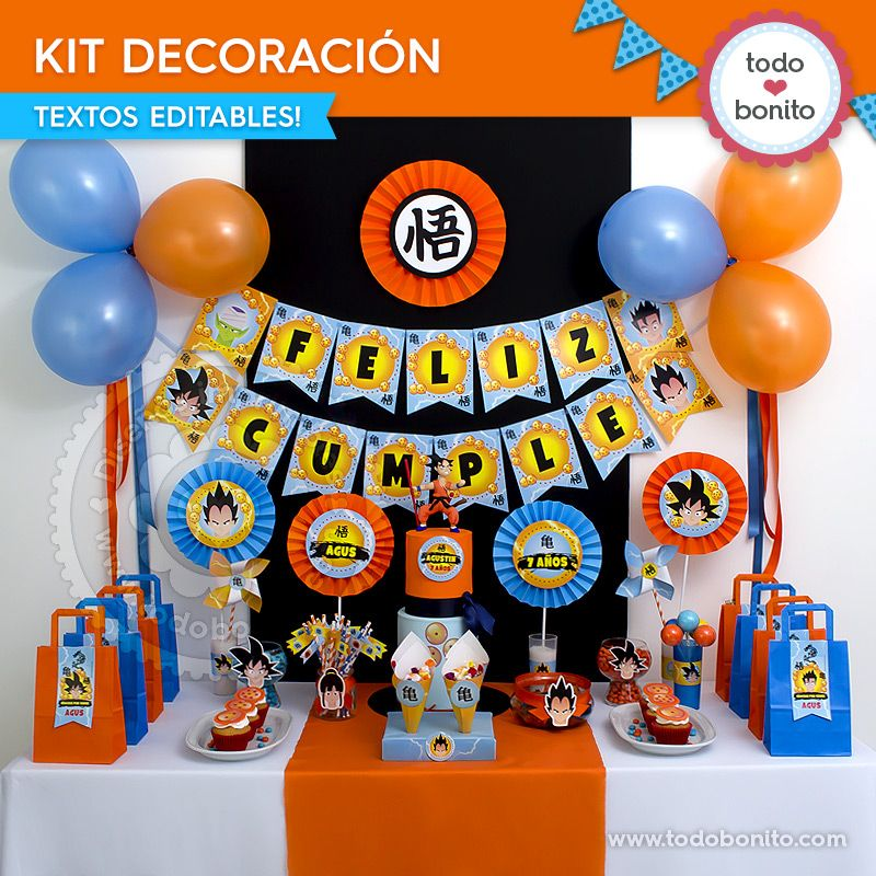 Kit decoración de Dragon Ball