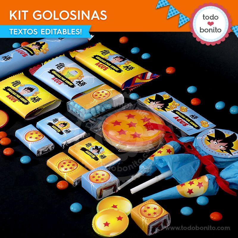 Kit golosinas de Dragon Ball