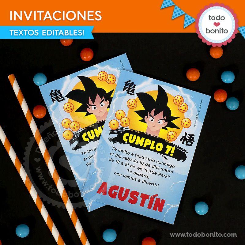 Invitaciones de Dragon Ball