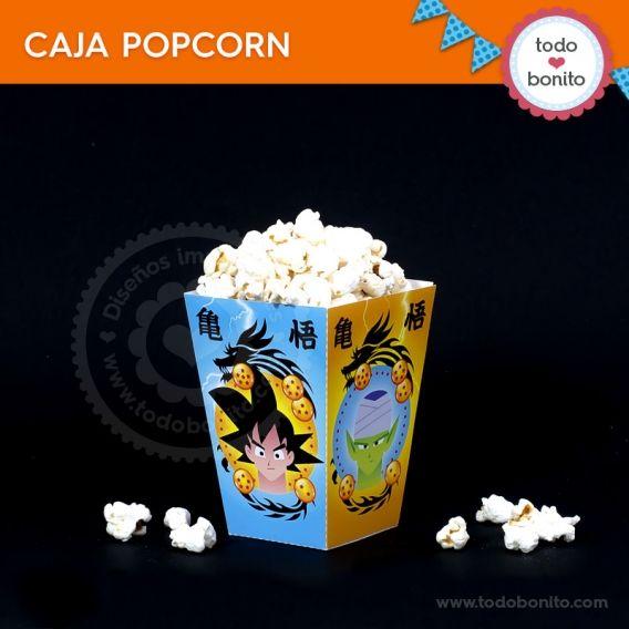 Caja Pop Corn Kit Imprimible Dragon Ball