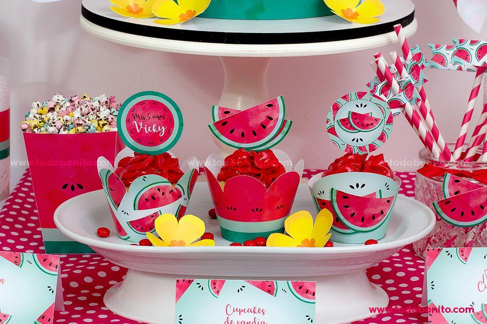 Cupcakes de sandías