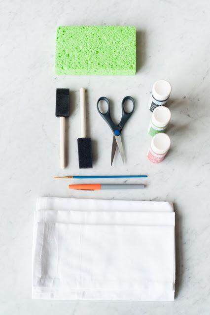 Materiales para hacer servilletas de sandías